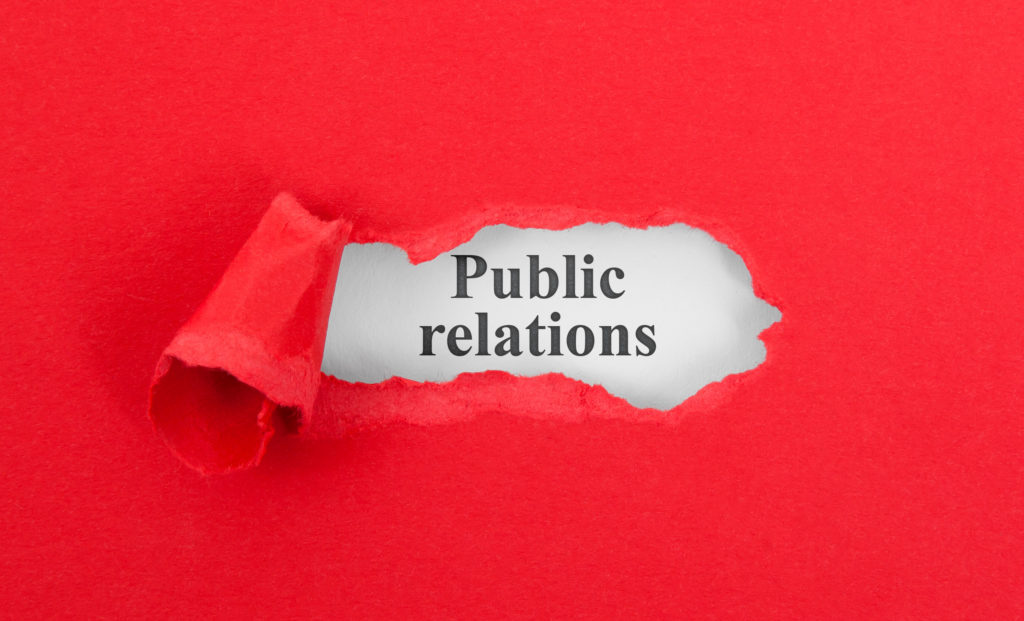 """Today's Common PR Mistake You Should Avoid   Red paper ripped with the words, """"Public Relations."""""""