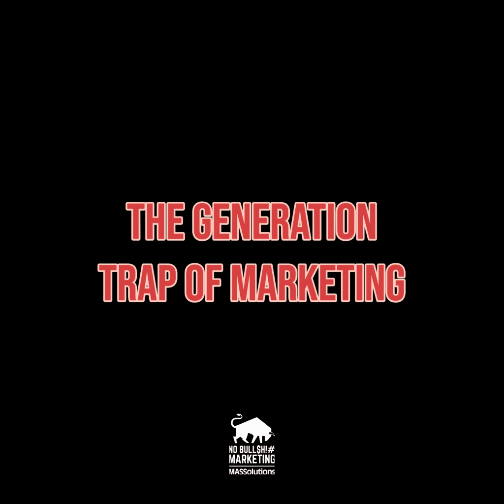 MASSolutions-branded image with The Generation Trap of Marketing